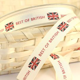 Best Of British Natural Ribbon - 15mm