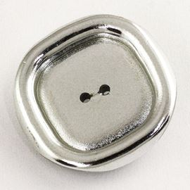 Tray Button. Silver. 30mm / 47 Ligne