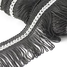Looped Chain Fringe. White - 50mm