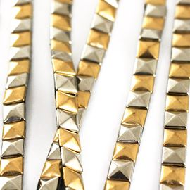 Pyramid Stud Trim. Gold & Silver. 8mm