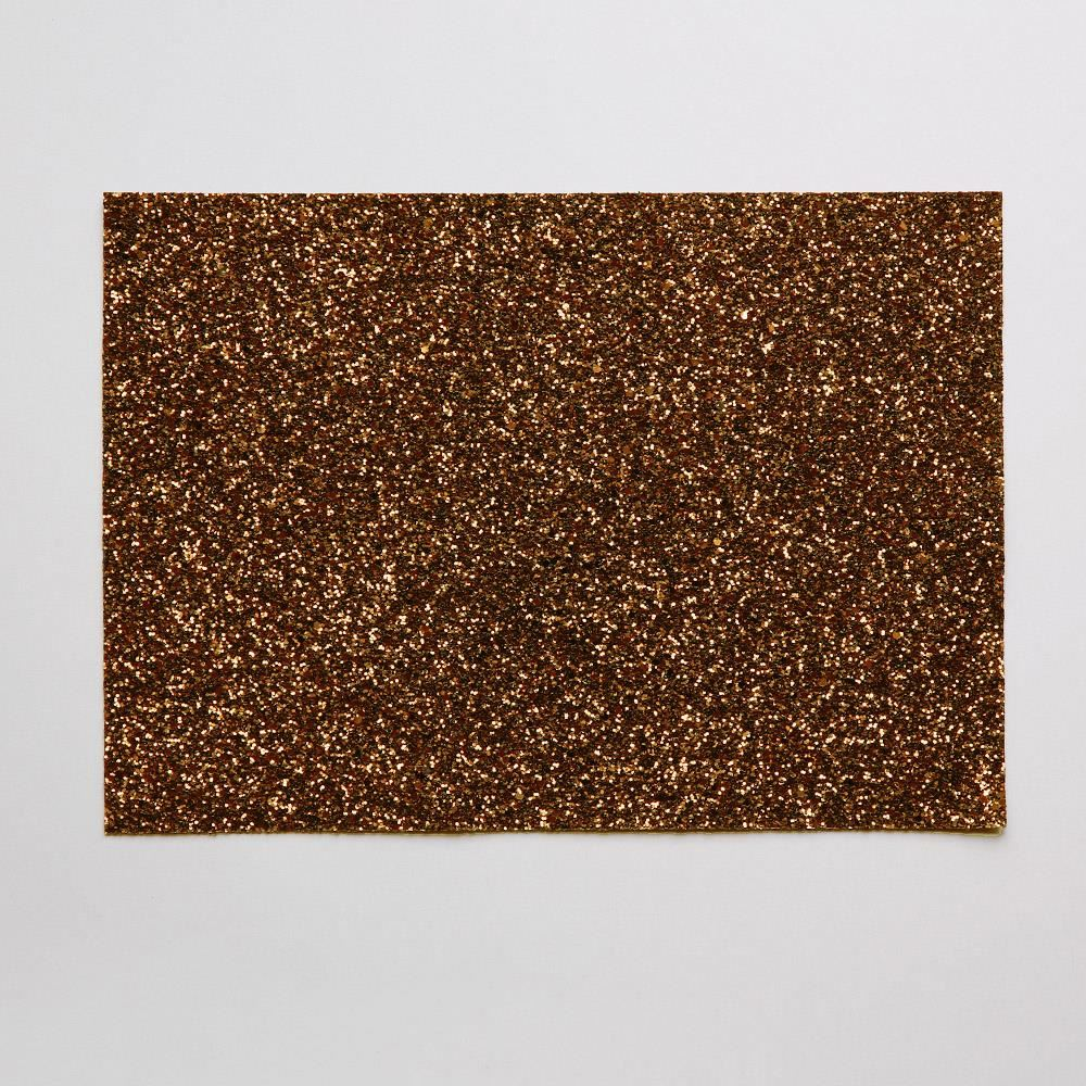 Milk Chocolate Glitter Fabric. 1 Metre.