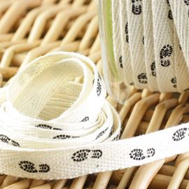 Twill Shoe Print Ribbon - 10mm