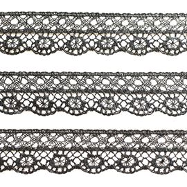 Tatting Lace, 17mm, Black