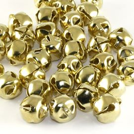 Jingle Bells X 12 - Metallic Gold. 15mm