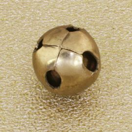 Sphere Button. Antique Gold. 10mm