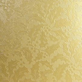 A4 Holly Embossed Card X 5 Sheets. Gold