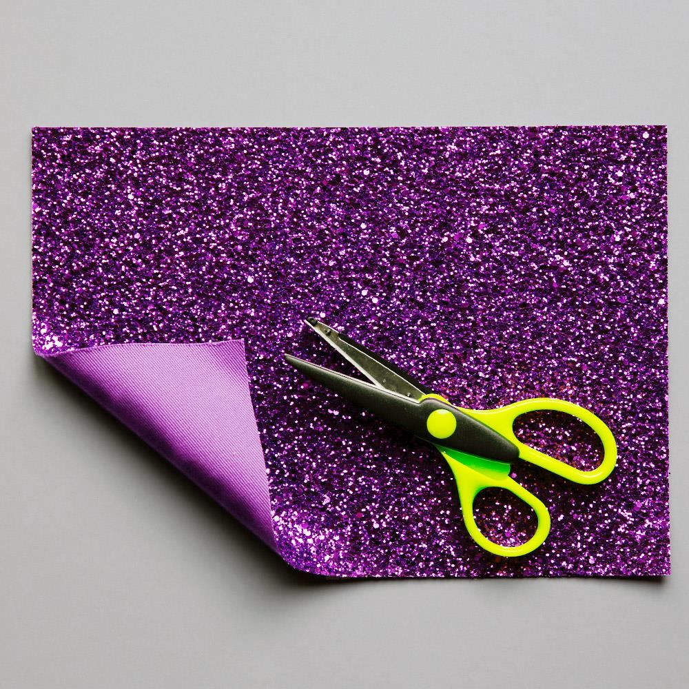 Purple Glitter Fabric. 1 Metre.
