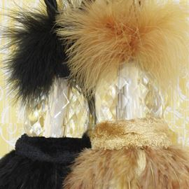 Crystal Feather Tieback - Honey Gold