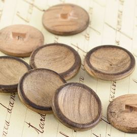 Wooden Cup Button - 22mm