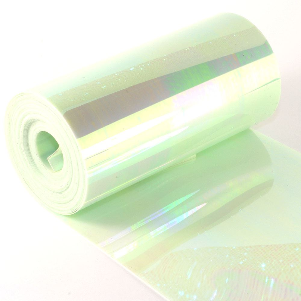 Glossy Green Opal Sequin Film. 5m Roll