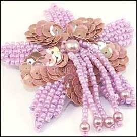 Lilac Beaded 65mm Starflower