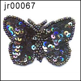 Silver Sequin 60mm B''fly Motif