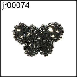 Black Sequin 22mm B'fly Motif