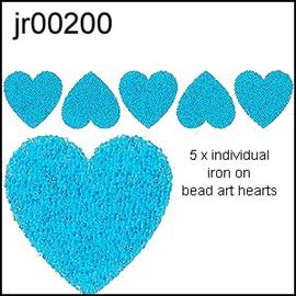 Blue Heart Bead-Art 5 Pack Motifs