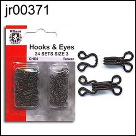 Size 1 Silver Hook & Eyes