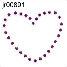 Rose Diamante Heart Motif