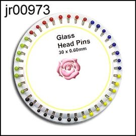 Glass Headed Pins Rosette