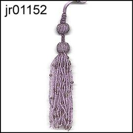 Amethyst Beaded Tassel