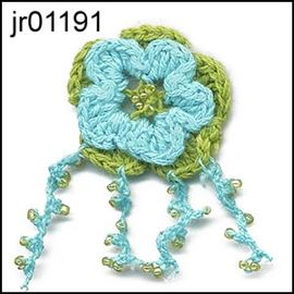 Aqua Combo Knitted Flower