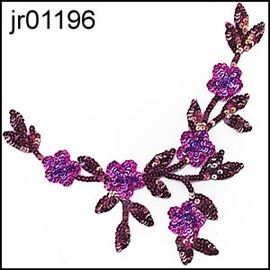Purple Blossom Garland Motif