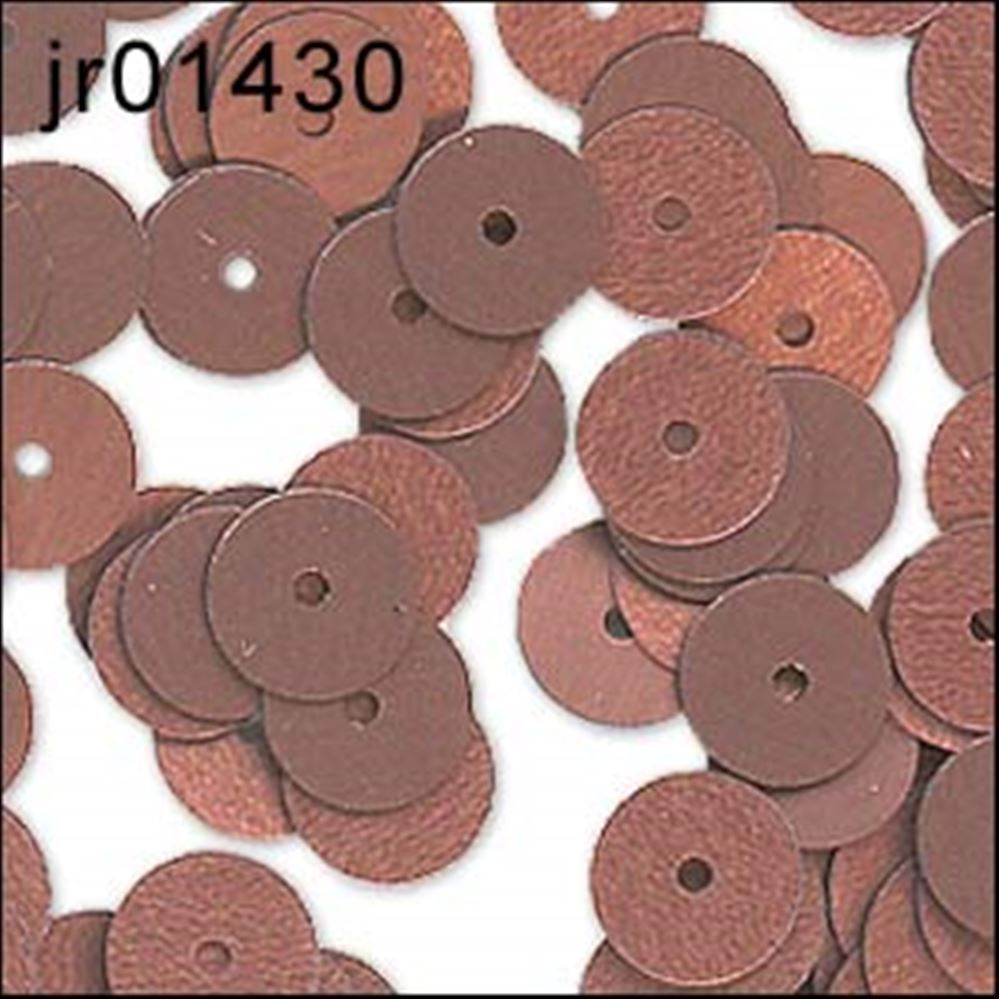 Matt Bronze Flat Sequins. 6mm