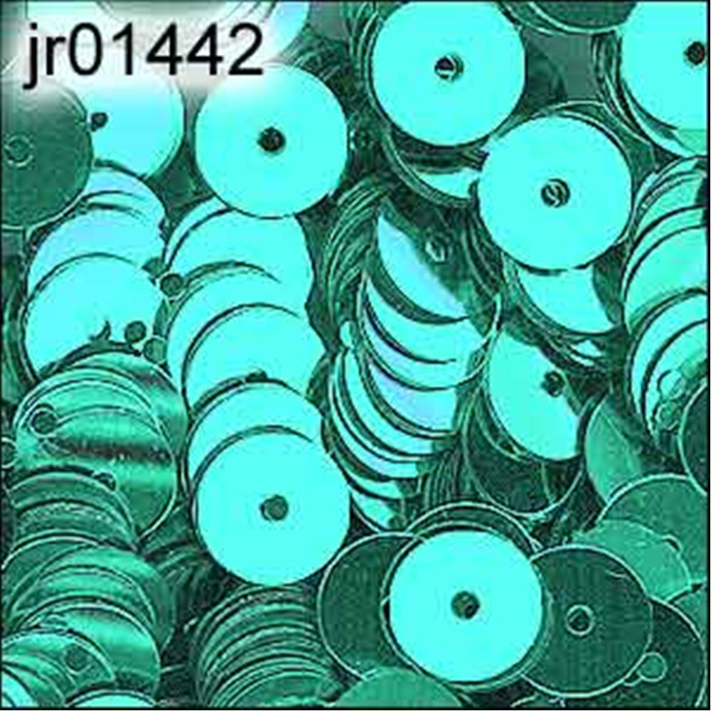 Metallic Green Aqua Flat Sequins. 6mm