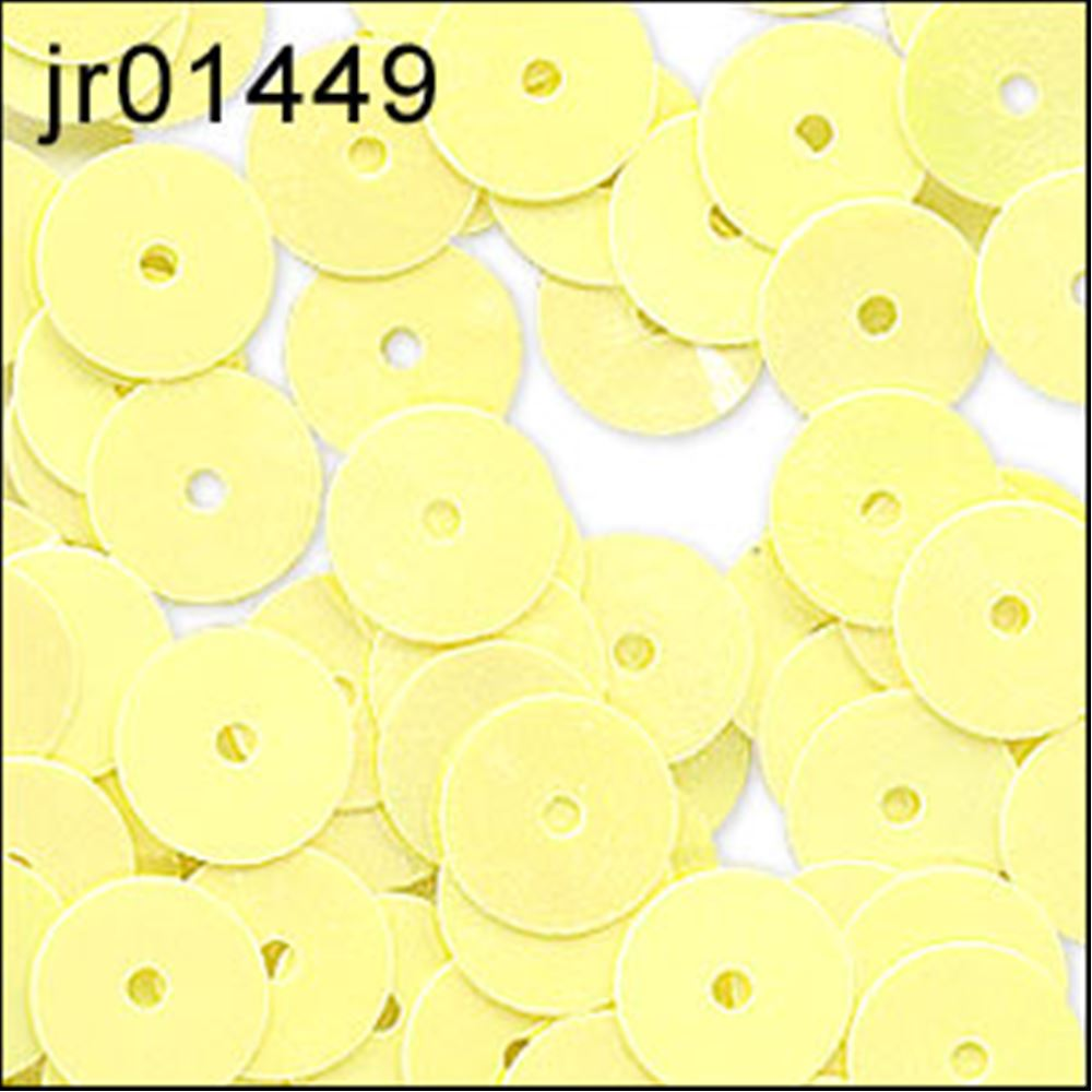 Glossy Lemon Sorbet Flat Sequins. 6mm