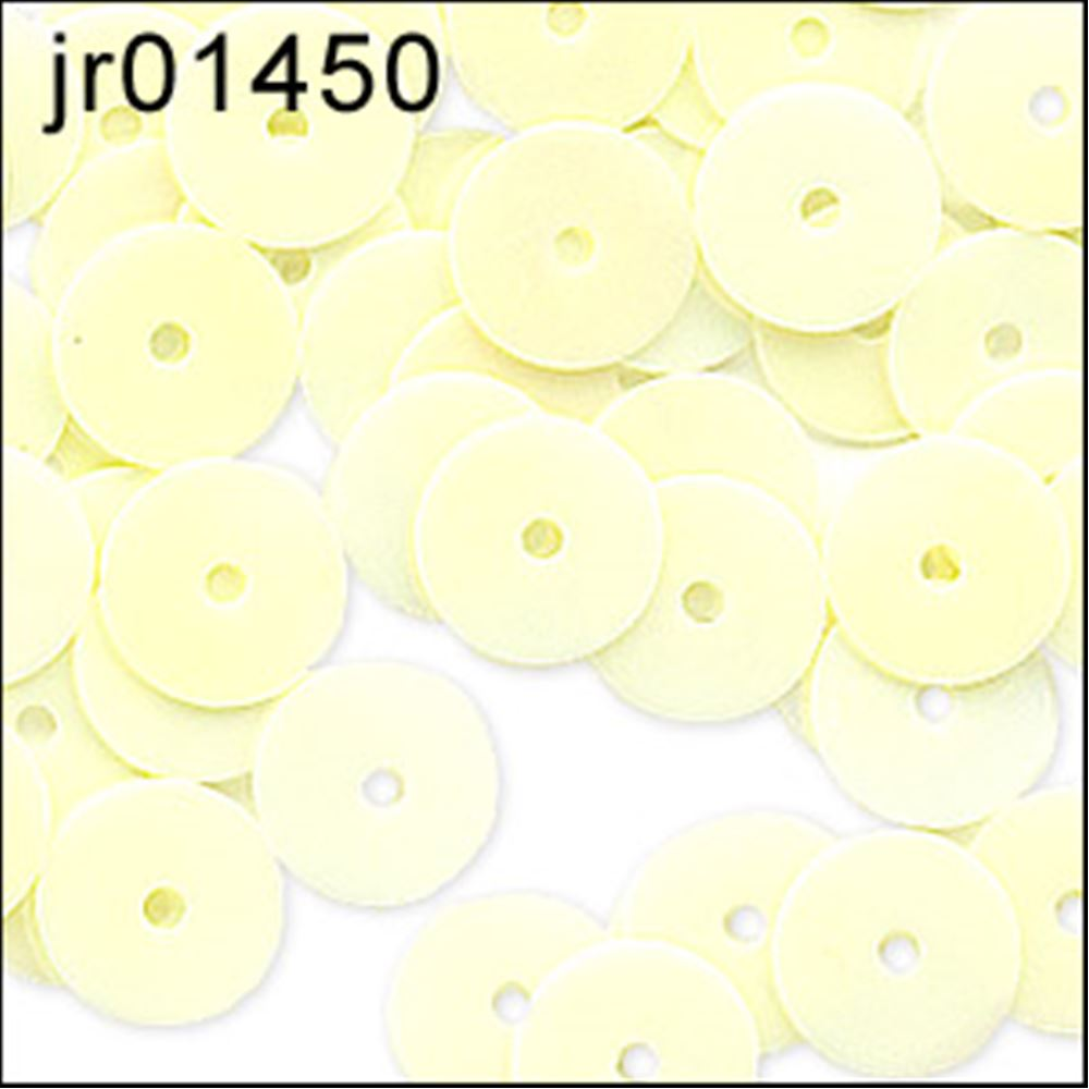 Glossy Vanilla Flat Sequins. 6mm