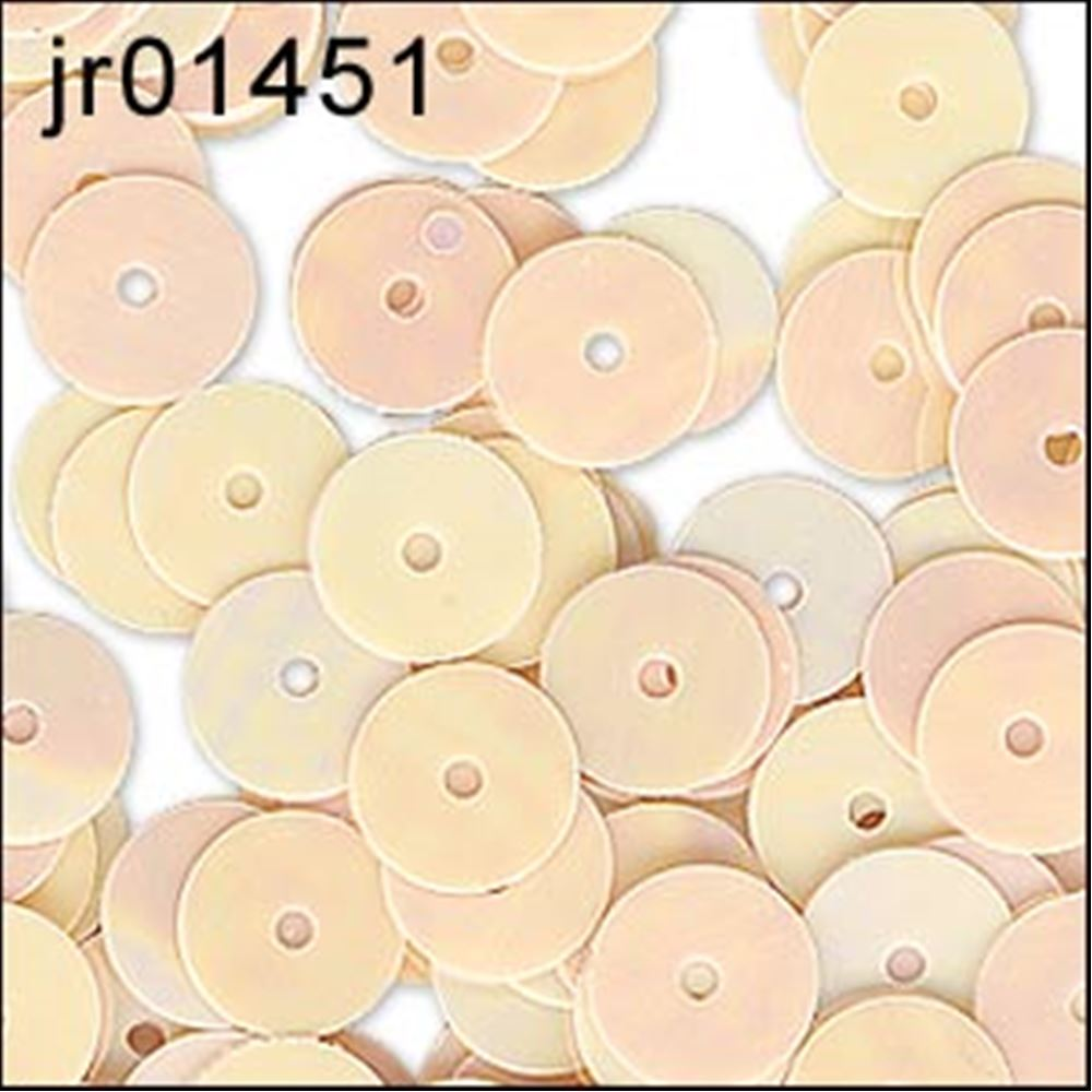 Glossy Peaches & Cream Flat Sequins. 6mm