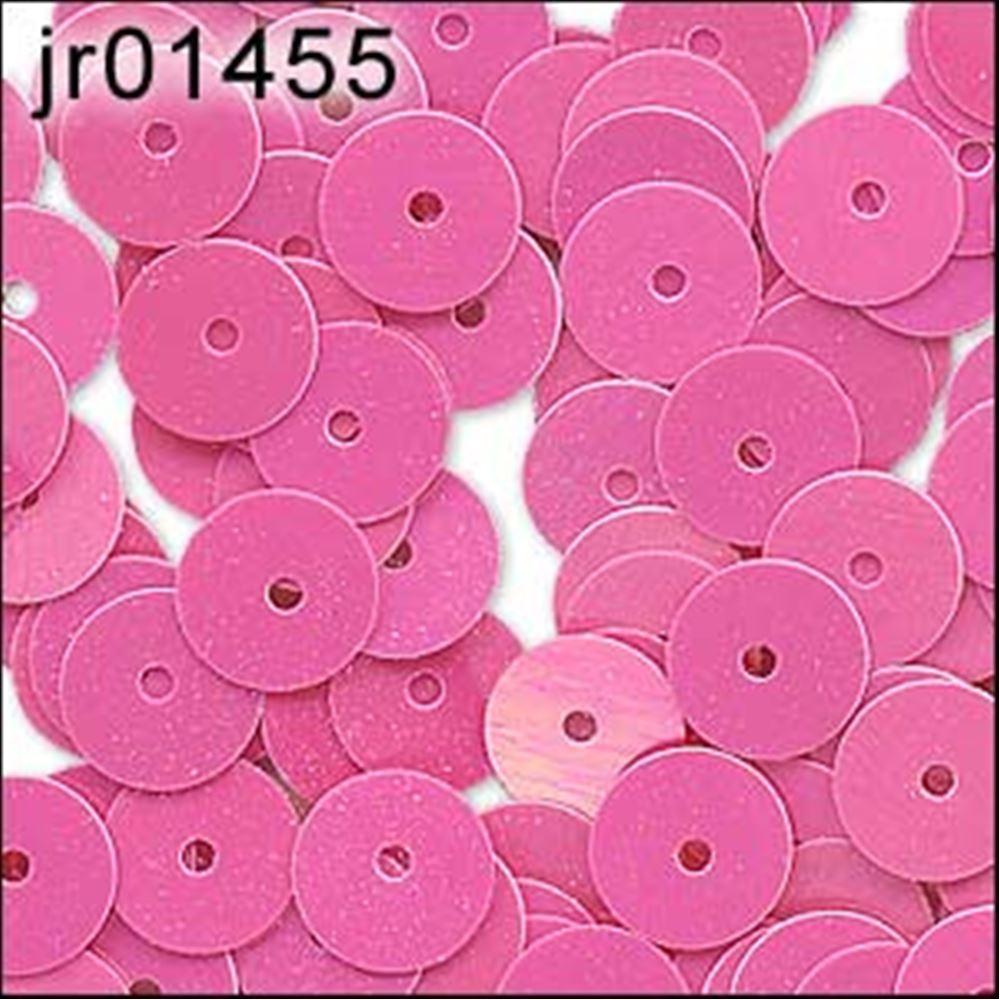 Glossy Bubblegum Pink Flat Sequins. 6mm