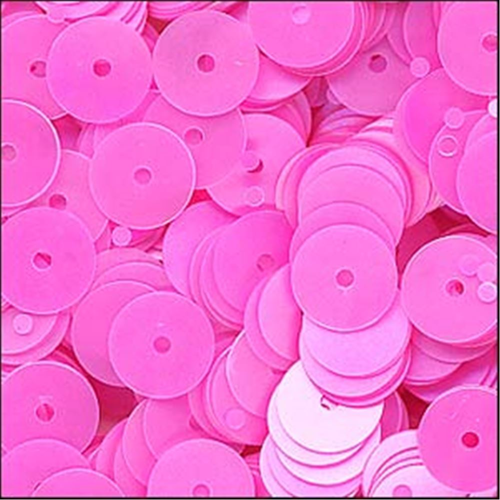 Satin Barbie Pink Flat Sequins. 6mm