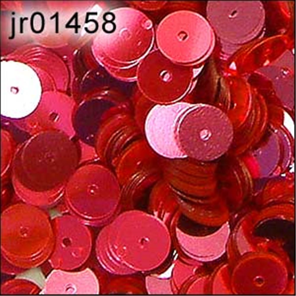 Metallic Shocking Pink Flat Sequins. 6mm