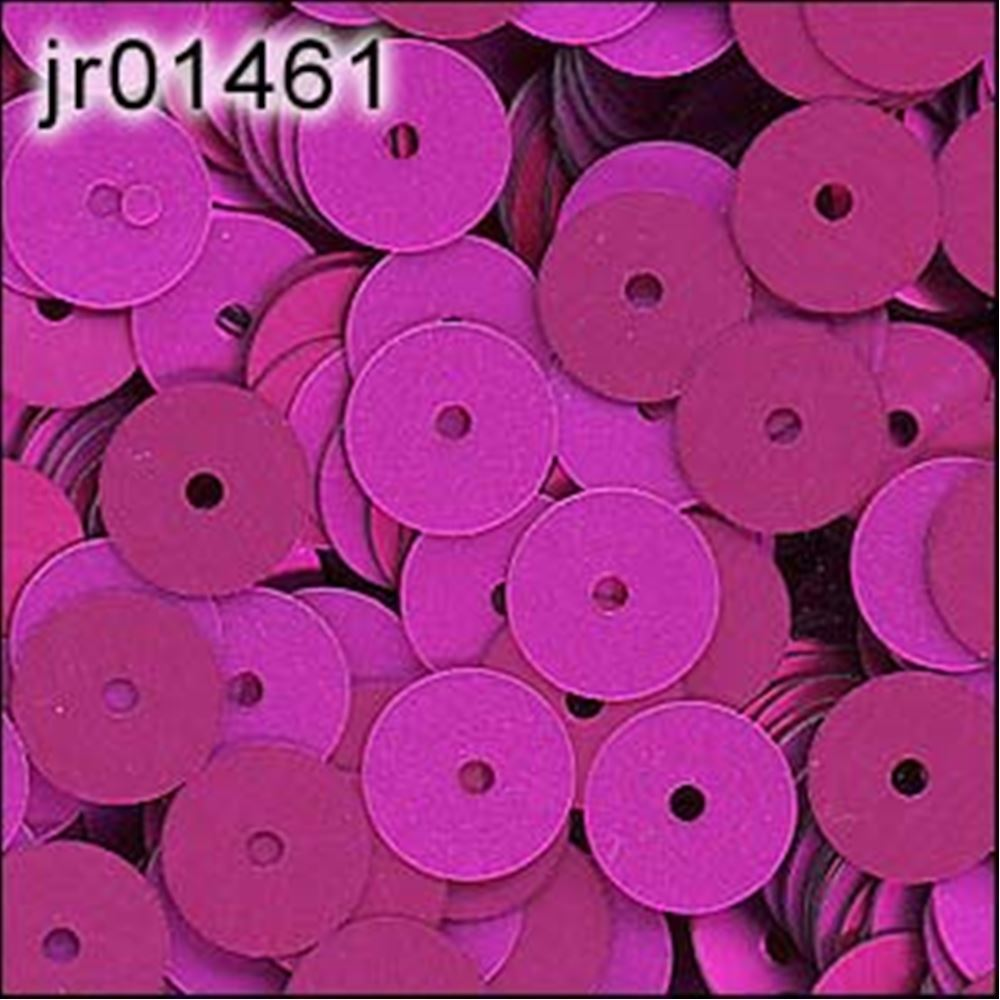 Matte Fuchsia Flat Sequins. 6mm