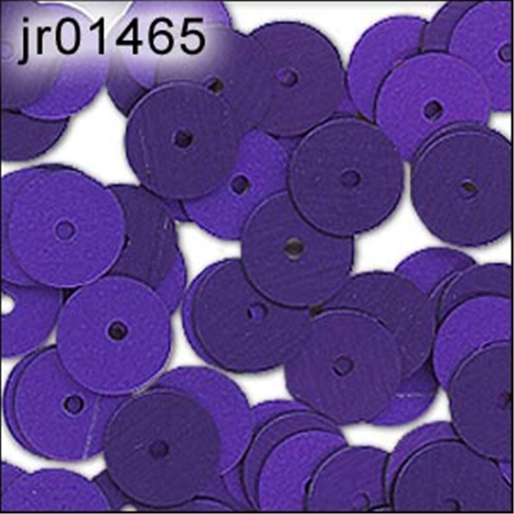 Matte Purple Flat Sequins. 6mm