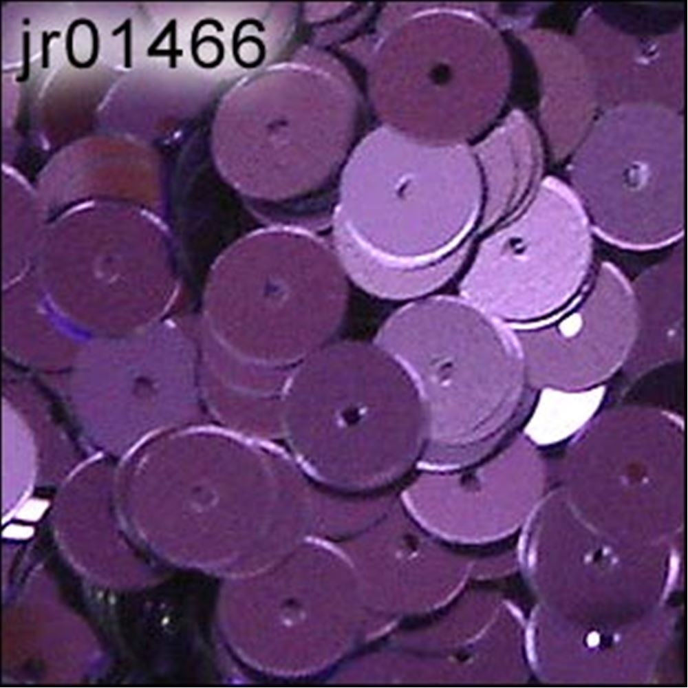 Metallic Royal Purple Flat Sequins. 6mm