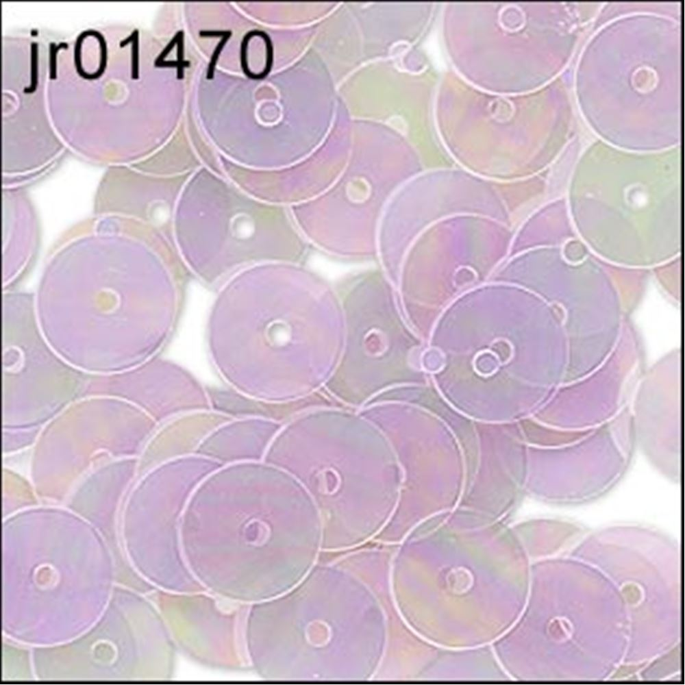 Clear Lilac Flat Sequins. 6mm