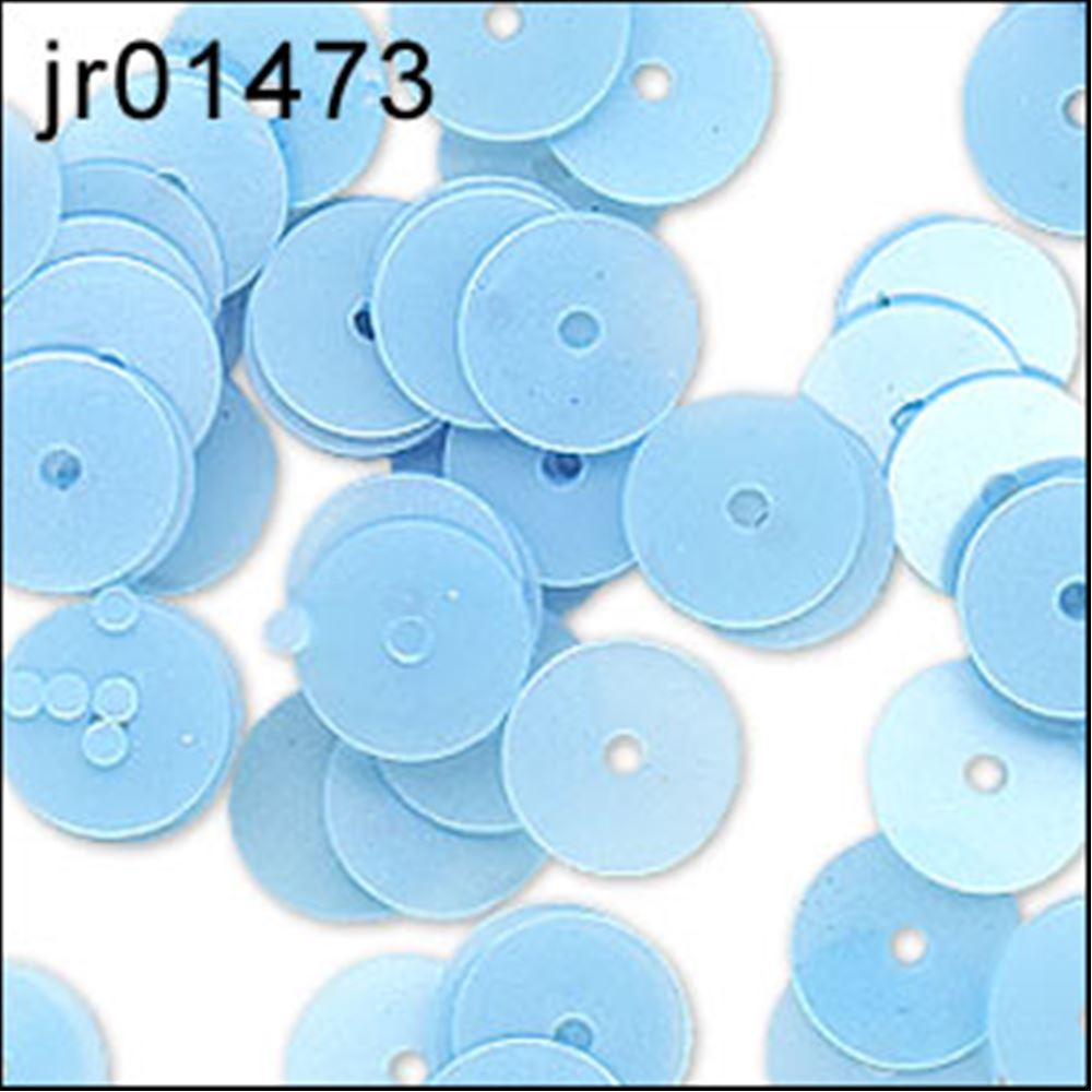 Satin Boy Blue Flat Sequins. 6mm