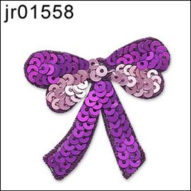 Pink Sequin Bow Motif