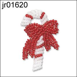 Seed Bead Xmas Candy Cane