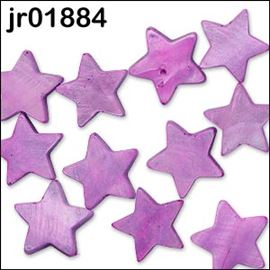 13 X Fawn Star Shell Beads