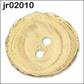 Natural Wooden Button 25-28mm
