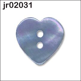 Fuchsia Mother Of Pearl Heart Button