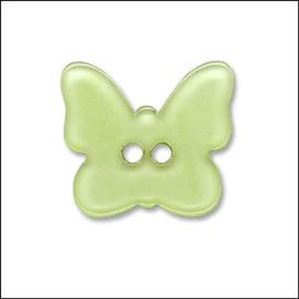 Yellow Butterfly Plastic Button