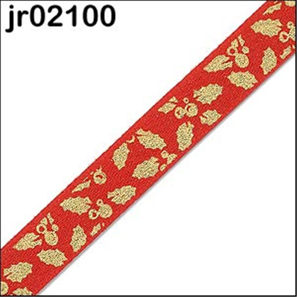 Red Holly Satin Ribbon 10mm