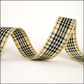 Blackberry Tartan - Beige 15mm