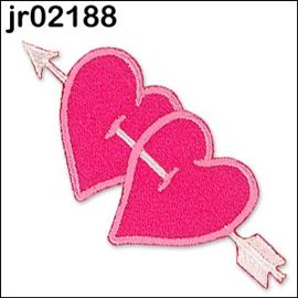 Barbie Pink Twin Padded Hearts, With Arrow
