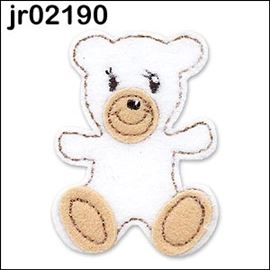 White Fleece  Teddy Bear