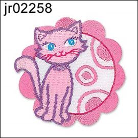 Pink Cat In Pink Flower Motif