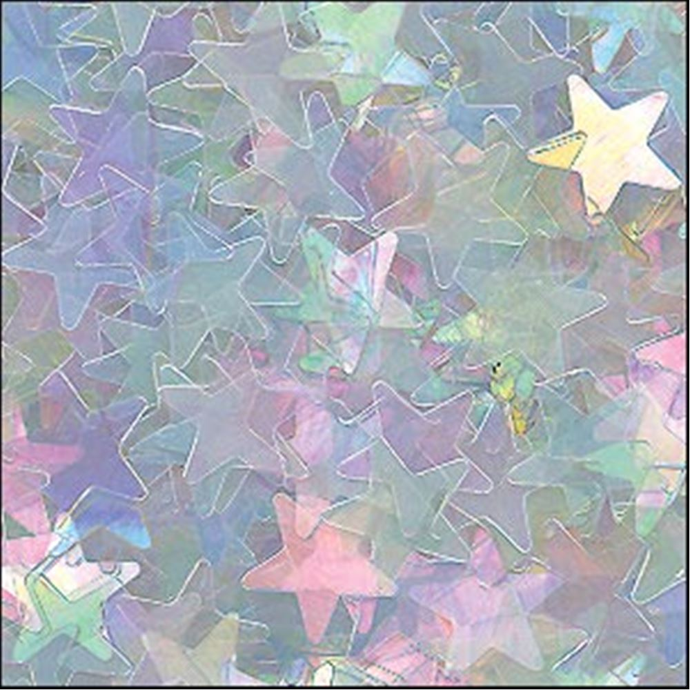 Clear Rainbow Star Sequins. 6mm