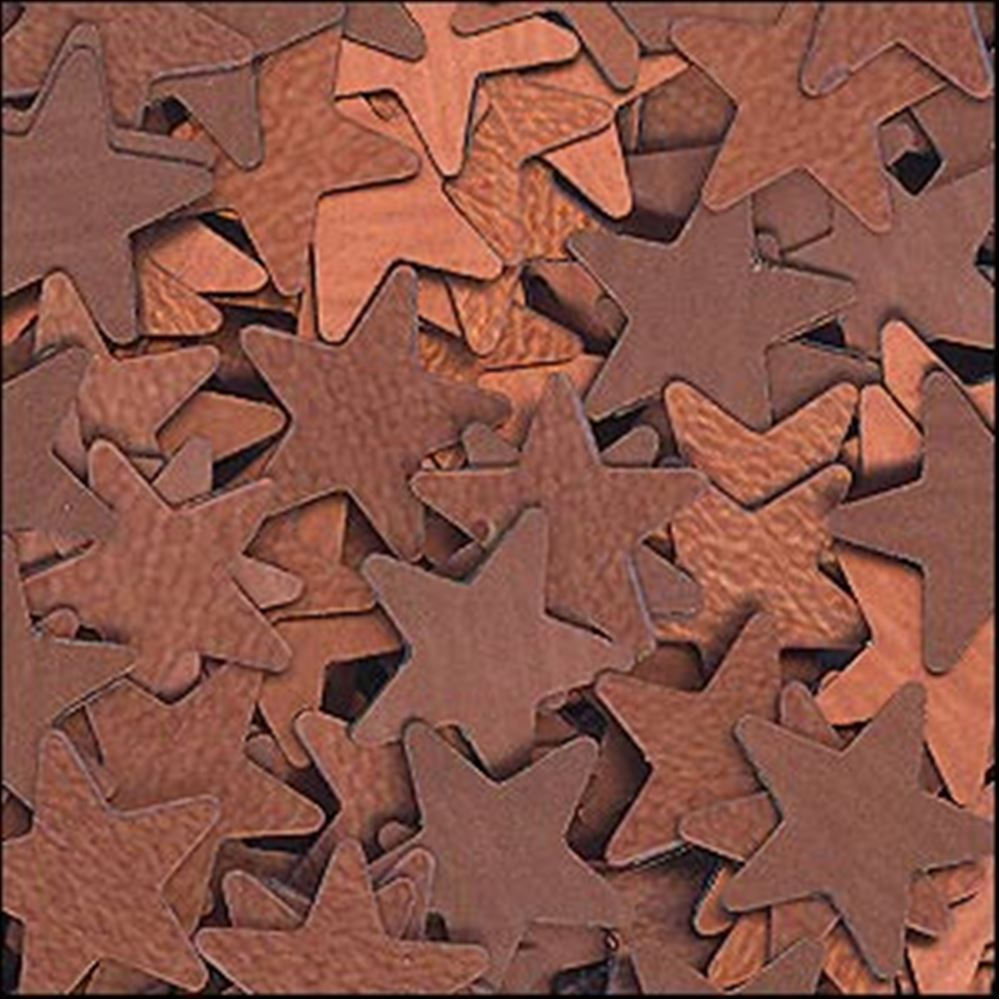 Matte Bronze Star Sequins. 6mm